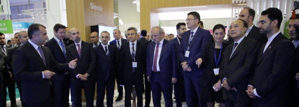 Iranians Pitch Tech Firms, Startups at Bakutel 2019