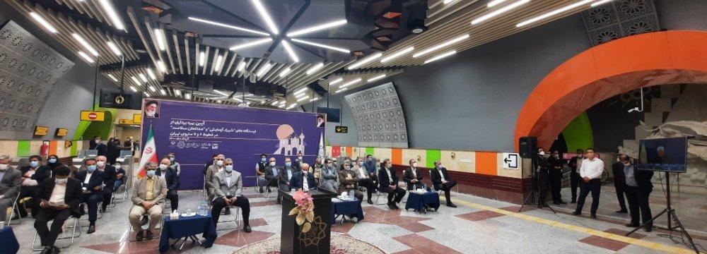 Tehran Subway Opens 2 Stations