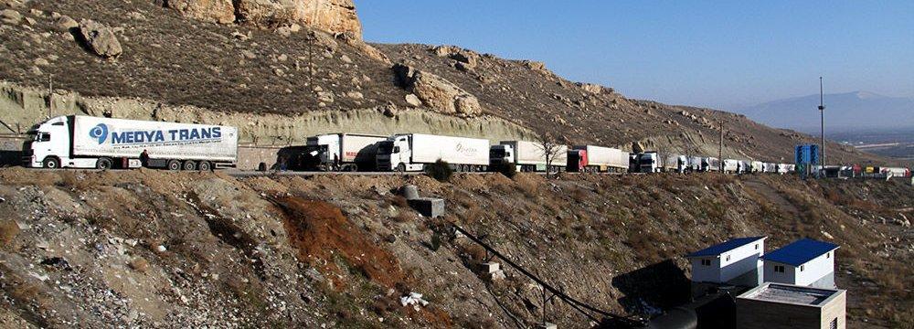 Iran's Exports Via Land Borders Up 17%, Imports Down 8% (Mar-Sep 2018)