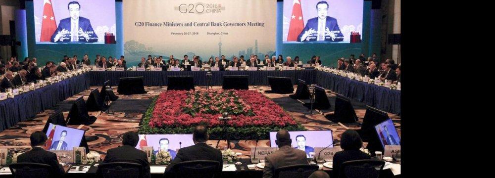 G20 Leaders Split on Policy