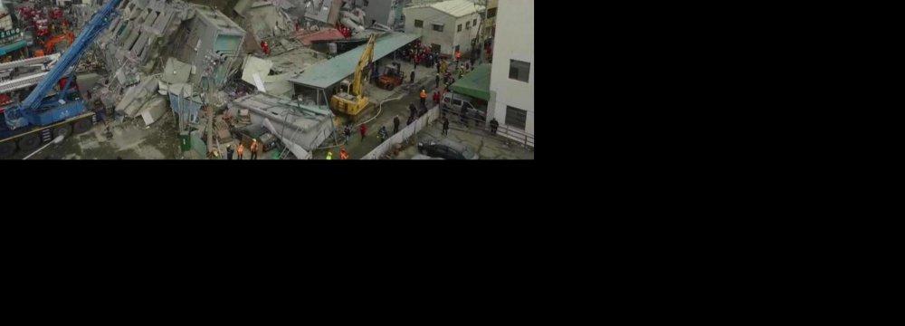 Scores Dead, Injured in Taiwan's Richter 6.4 Quake