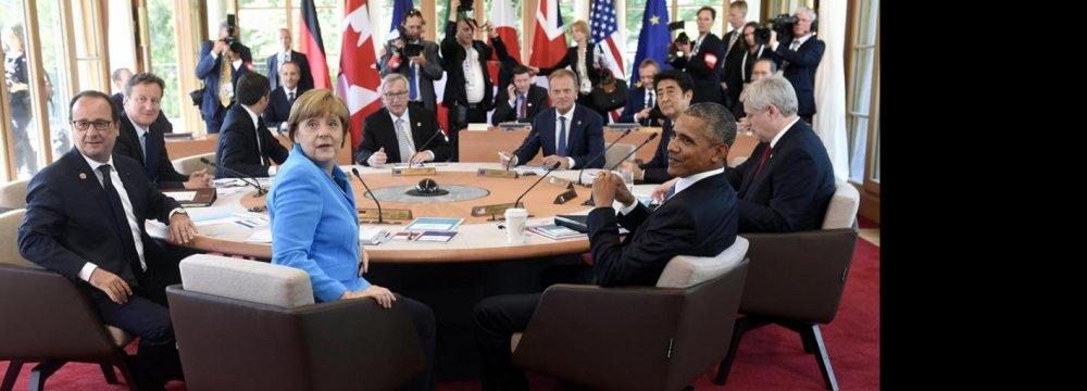 Greece, Ukraine Crises Loom Over G7 Summit