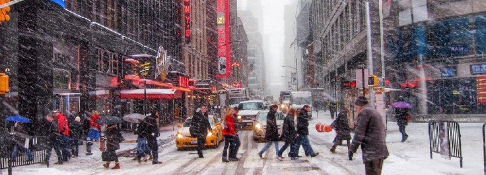 Blizzard Shuts Down New York