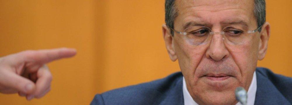 Lavrov Warns Over Russia Regime Change
