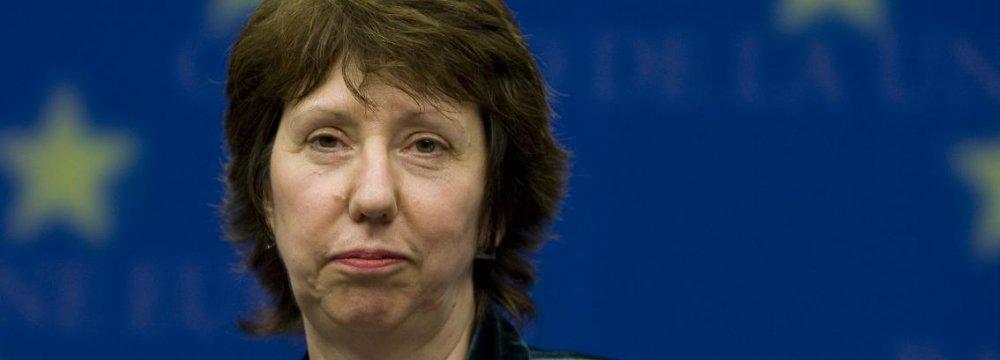 Ashton Appointed EU Advisor on Nuclear Talks