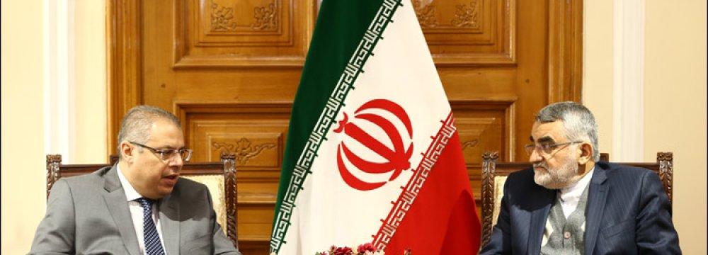 Outgoing Algerian Envoy Calls on MP