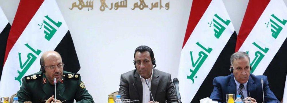 Defense Chief, Iraqi Counterpart Discuss Security Coop.
