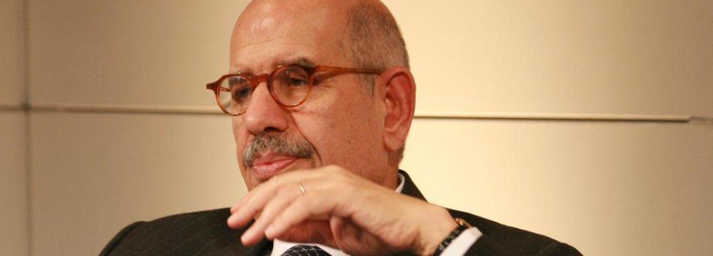ElBaradei Calls for Iran-Arab Rapprochement
