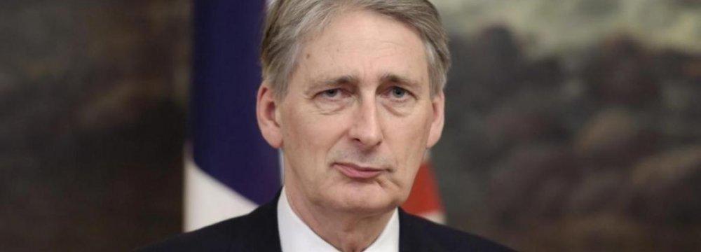 Hammond: Tehran a Potential Ally in Anti-Terror Fight