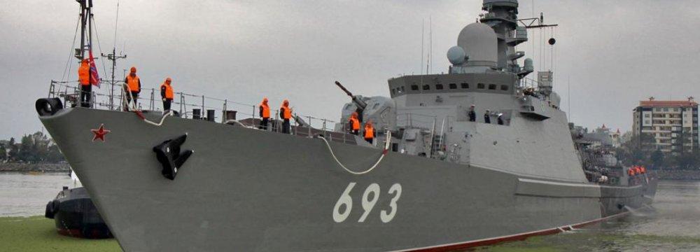 Russian Naval Vessels Depart