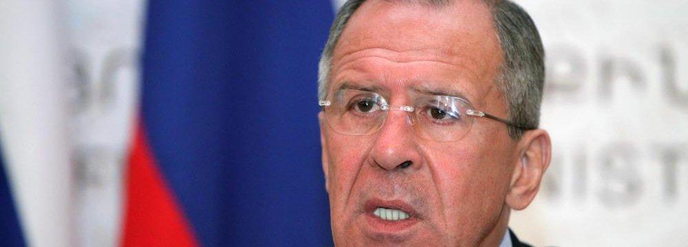 Lavrov: P5+1 Talks on Right Track