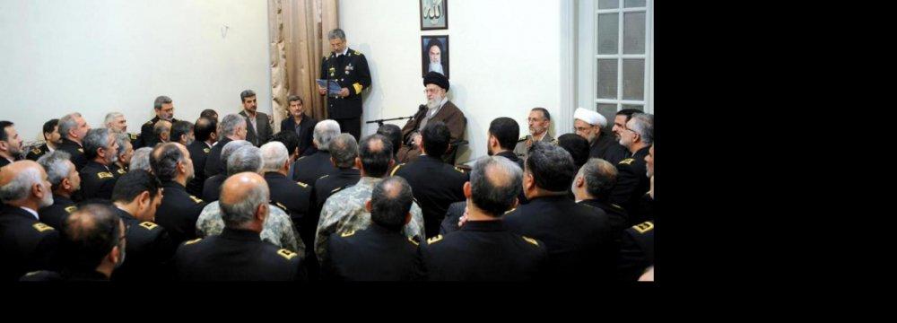 Leader Calls for Boosting  Naval Capabilities