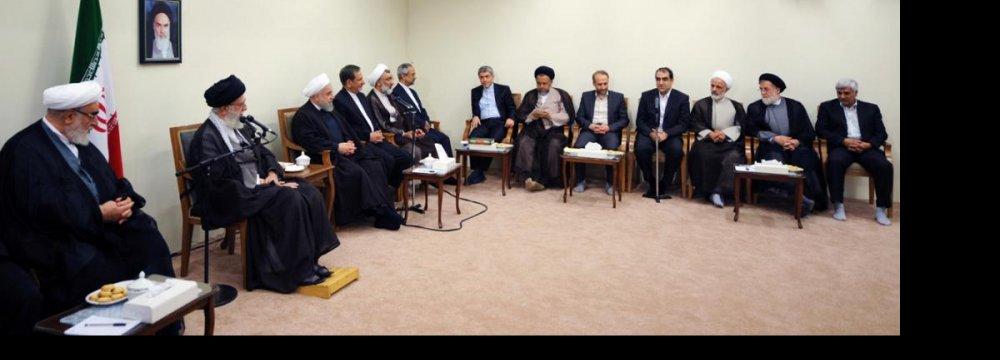 Leader Hails Efforts  to Stabilize Economy