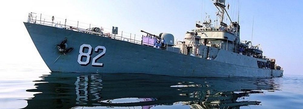 Naval Fleet in Malacca Strait