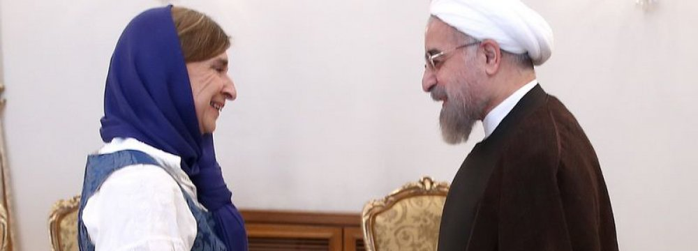 Rouhani  Receives  New EU  Ambassadors