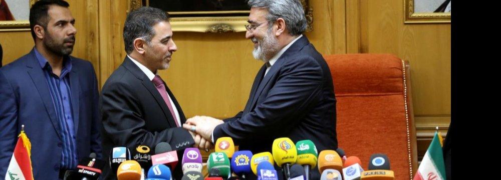 Iraqi Minister Reviews  Security,  Economic Ties