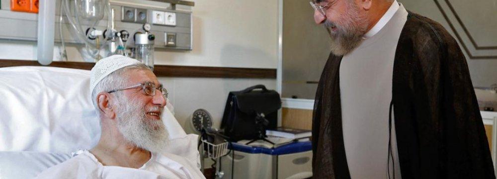 Rouhani Visits Leader