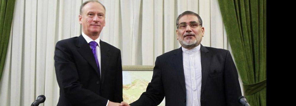 SNSC's Shamkhani Meets Russian Counterpart