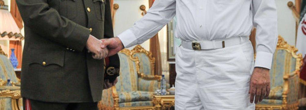 SNSC Chief, Syria Defense Minister Confer
