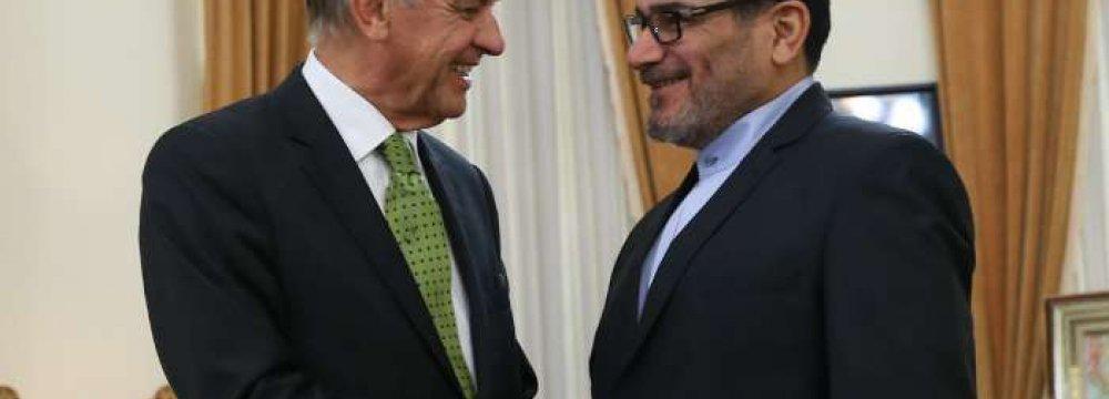 UN's Eliasson Discusses Regional Crisis in Tehran