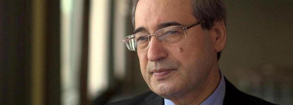 Syrian Deputy FM in Tehran