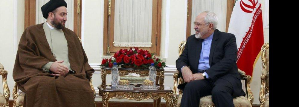 Hakim Calls for Expansion of Strategic Iraq-Iran Ties