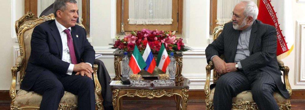 Tatar President,  Zarif Confer