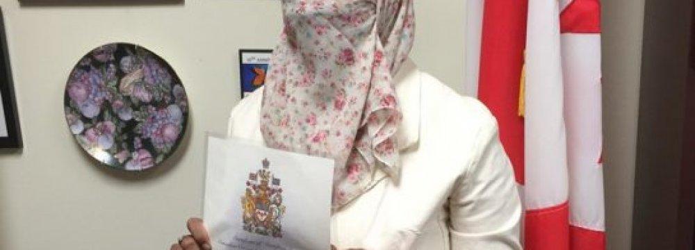 Canada Gov't Drops Niqab Case Appeal