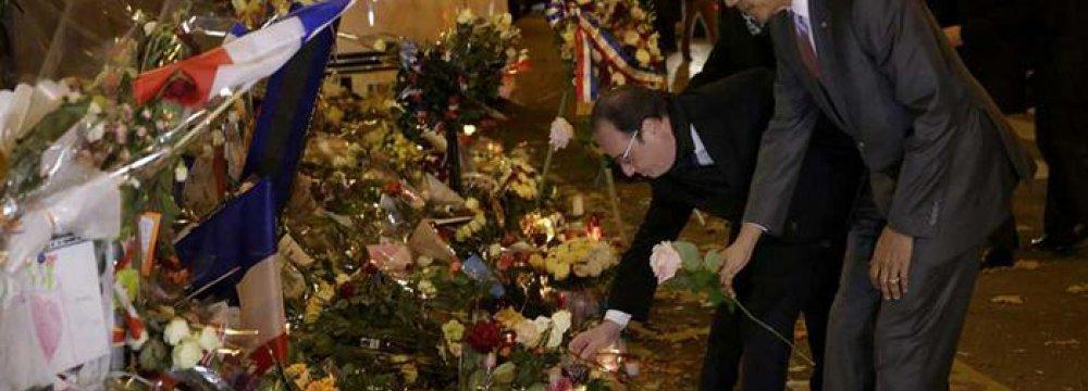 US Tribute for Paris Attacks Victims