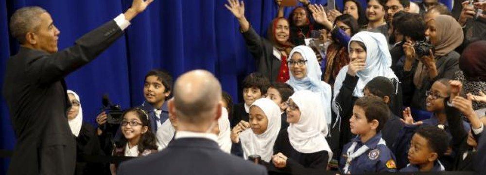 Obama Visits US Mosque