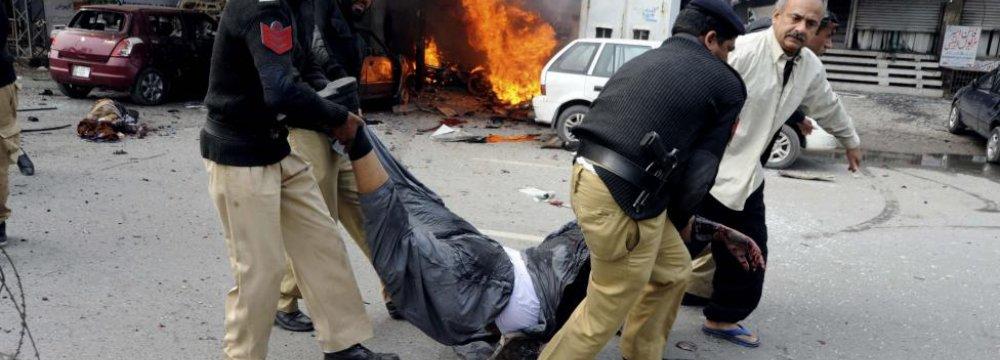 Scores Dead in Pak, Afghan Suicide Bombings