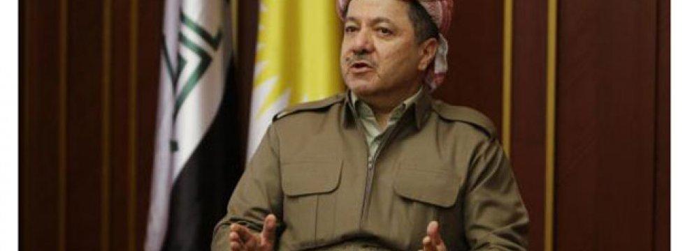 Barzani  to Remain KRG Head