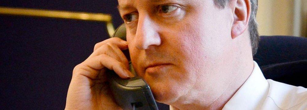 Cameron Receives Hoax Call
