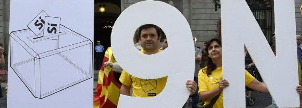 Spain Seeks Court help  against Catalan Vote