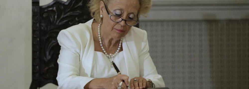 Greece Caretaker Gov't Sworn In