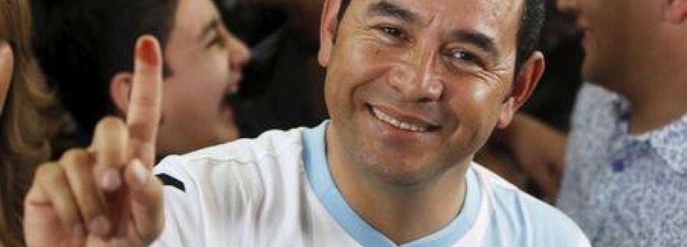 Comic Elected Guatemala President
