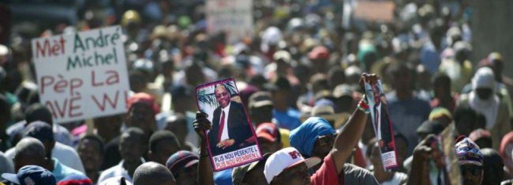 Haitians Protest Election Delays
