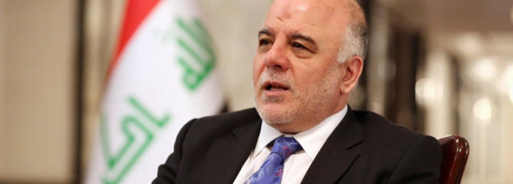 Iraq PM in Jordan for Security Talks