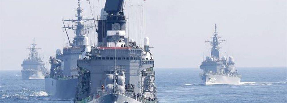 Japan Displays Naval Power