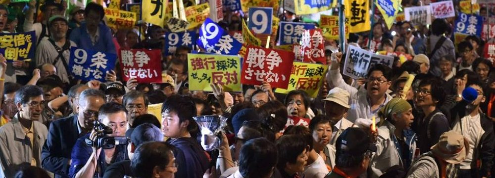 Opponents Vow to Fight  Japan's Rising Military Role