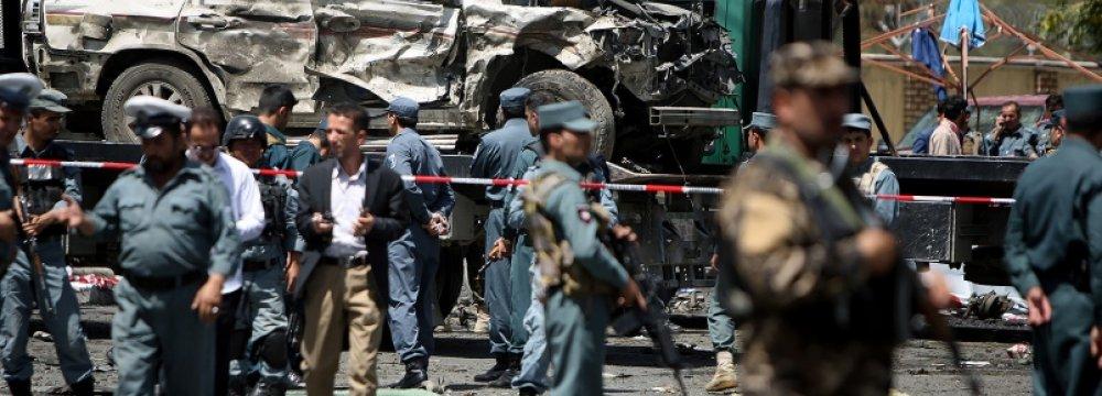 Kabul Car Bomb Kills 10