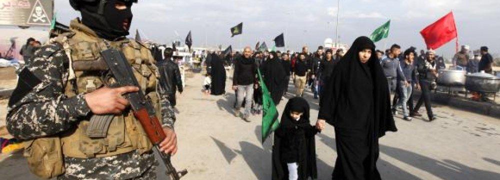 Pilgrims Flock to Karbala, Gov't Fears Attack