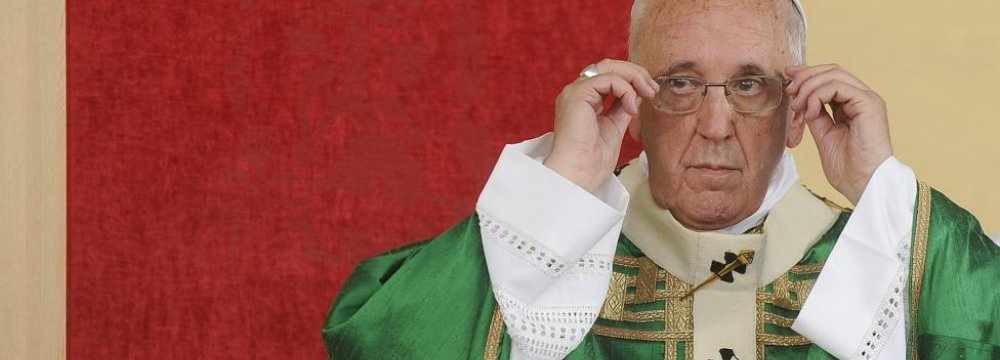 Pope Condemns Arms Producers