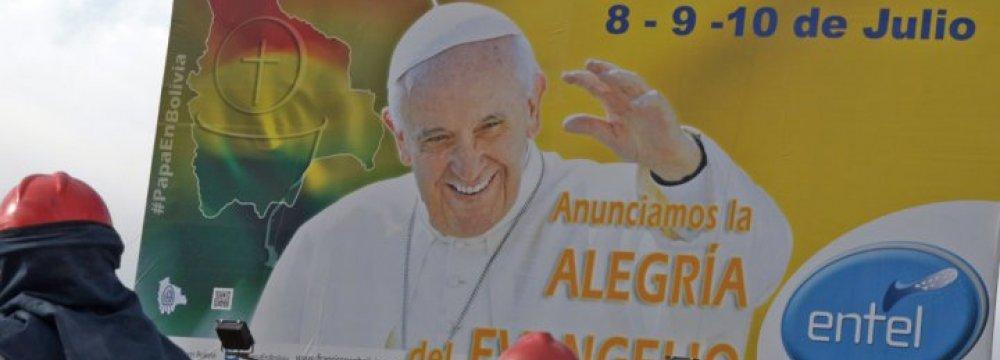 Pope Begins S. America Visit