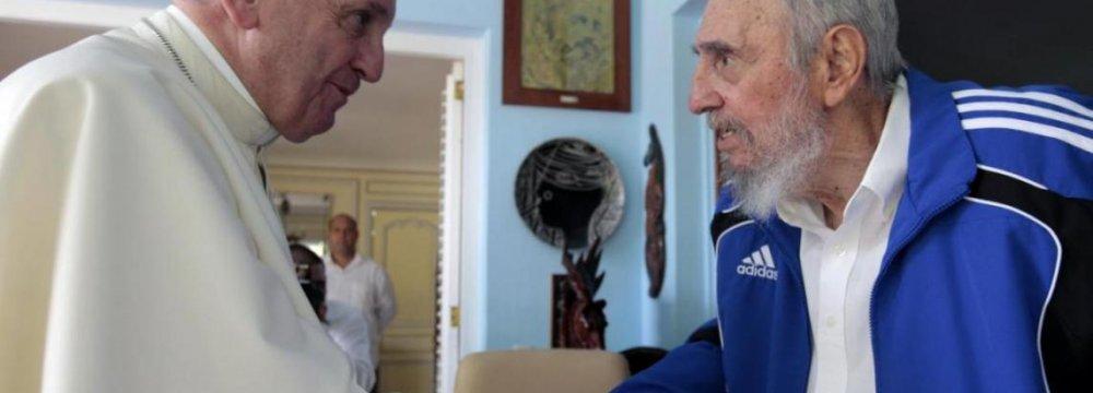 Pope Francis Meets Fidel Castro