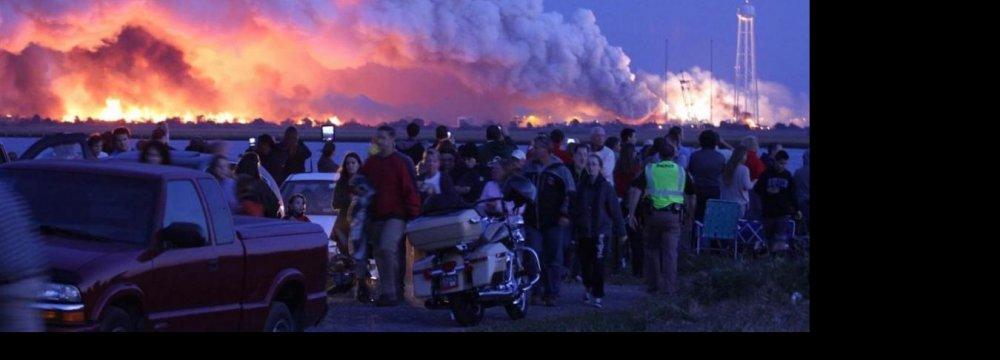 NASA Rocket Explodes During Launch