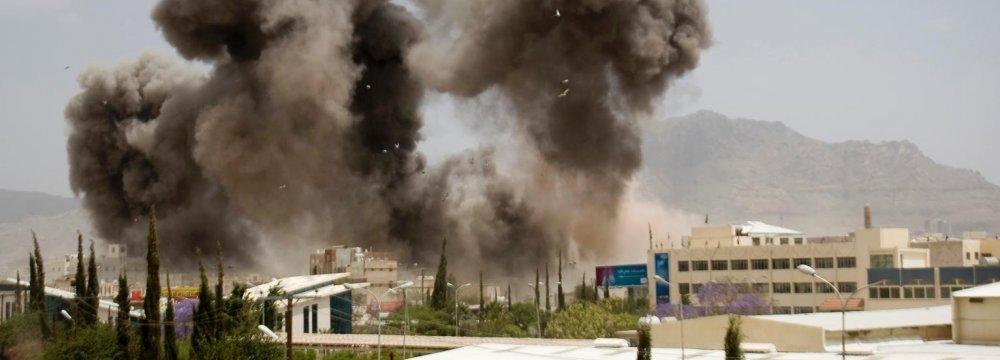 Saudi-Led Bombers  Hit Yemen Rebels