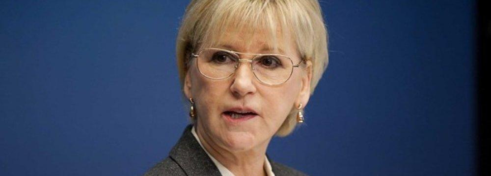 Saudis Block Swedish FM's Speech at Arab League