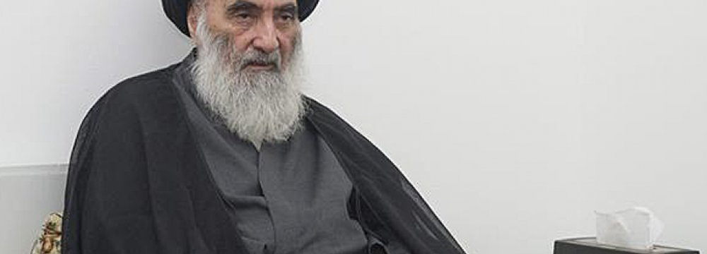 Sistani Urges Iraq Gov't to End Corruption