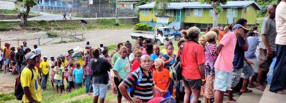Solomon Islanders  Go to Polls